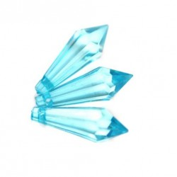 Korálky broušené plast 30mm 6ks modrá