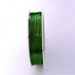 Měděný drátek 0,4mm 16m zelená