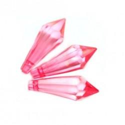 Korálky broušené plast 30mm 6ks růžová