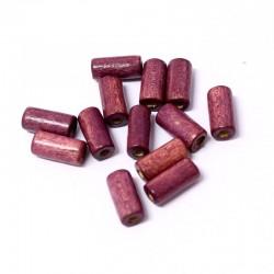 Korálky dřevěné 12x5mm 30ks fialová
