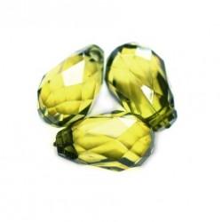 Korálky broušené plast 18mm 8ks zelená