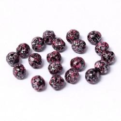 Ohňovky broušené 6mm 25ks imitace kamene růžová