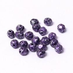 Ohňovky broušené 6mm 25ks imitace kamene fialová