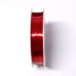 Měděný drátek 0,4mm 16m červená
