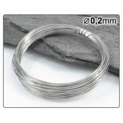 Nerezový drátek 0,2mm 10m