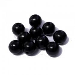 Korálky dřevěné 12mm 10ks černá