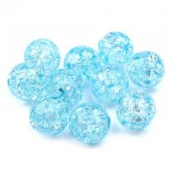 Korálky práskané plast 12mm 8ks modrá světlá