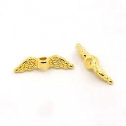 Andělská křídla 12x3mm 10ks zlatá