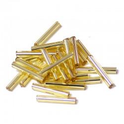 Sekaný rokajl 15mm 50ks zlatá světlá hladká