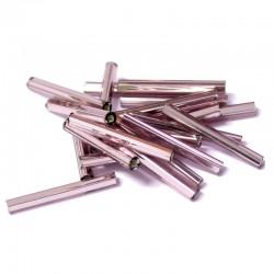 Sekaný rokajl 20mm 50ks fialová světlá hladká
