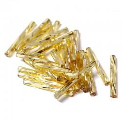 Sekaný rokajl 20mm 50ks zlatá světlá