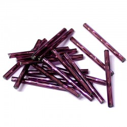 Sekaný rokajl 25mm 50ks fialová