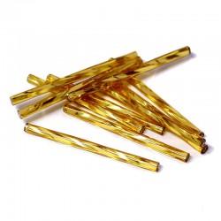 Sekaný rokajl 35mm 50ks zlatá