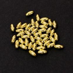 "Korálky ""rýže"" plast 8x4 mm 80ks zlatá2"