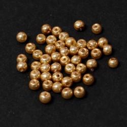 Voskované perle 4mm 50ks karamelová