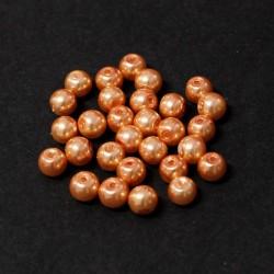 Voskované perle 6mm 30ks meruňková