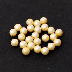 Voskované perle 6mm 25ks vanilková matná