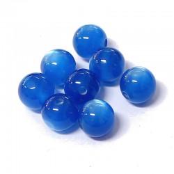 Korálky pyskyřice 12mm 8ks modrá