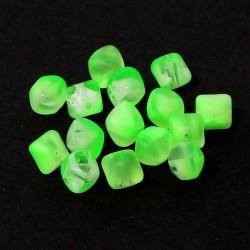 Korálky NEON 7x9mm 15ks zelená neonová