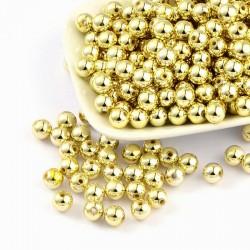 Korálky plastové 8mm 25ks zlatá