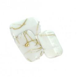 Korálky plastové 18x11mm 10ks hnědo-zlatá
