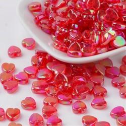 Srdíčka plastová 8mm 20ks červená