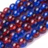 Korálky práskané 8mm 15ks modro-červená