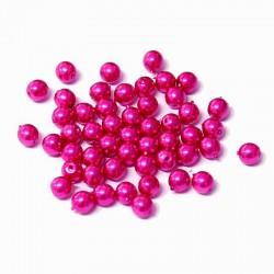 Voskované perle 4mm 50ks fuchsiová