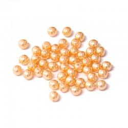 Voskované perle 4mm 50ks broskvová