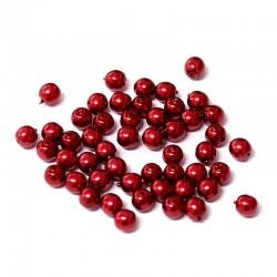 Voskované perle 4mm 50ks vínová