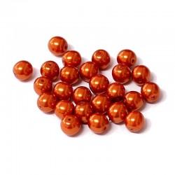 Voskované perle 6mm 25ks cihlová