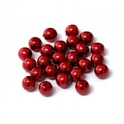 Voskované perle 6mm 25ks vínová