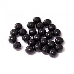 Voskované perle 6mm 25ks černá