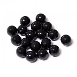 Voskované perle 8mm 18ks černá