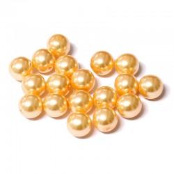 Voskované perle 8mm 18ks broskvová