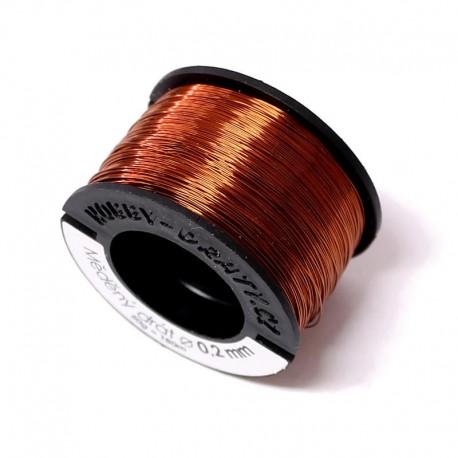 Měděný drátek 0,2mm 50g (180m), měděná tmavá