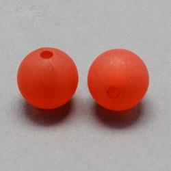 Korálky plastové 6mm 50ks červená matná