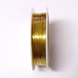 Měděný drátek 0,3mm 20m zlatá