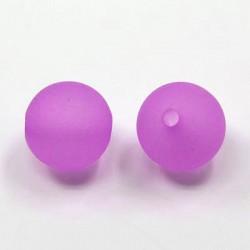 Korálky plastové 6mm 50ks fialová matná