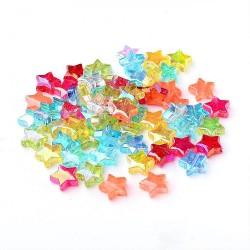 Hvězdičky plastové 10mm 20ks MIX barev