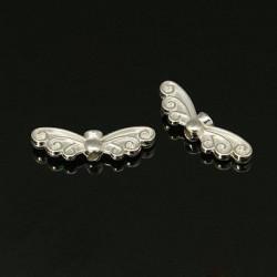Andělská křídla 22x7mm 4ks stříbrná