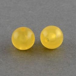 Korálky plastové 6mm 50ks žlutá