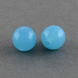 Korálky plastové 6mm 50ks modrá