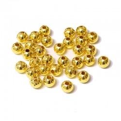 Korálky plastové 6mm 50ks zlatá