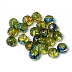 Korálky skleněné Cosmic 8mm 20ks zelená