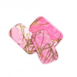 Korálky plastové 18x11mm 10ks růžovo-zlatá