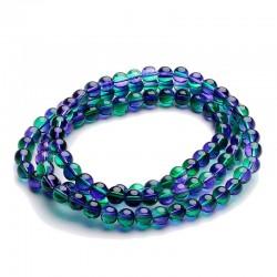 Korálky skleněné 8mm 20ks zeleno-modrá