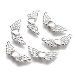 Andělská křídla 22x9mm 4ks stříbrná