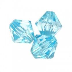 Korálky broušené plast 6mm 400ks modrá světlá