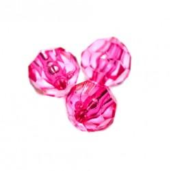 Korálky broušené plast 6mm 50ks růžová zářivá